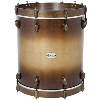 TIMBAL 40X47CM MAGEST QUADURA REF. 04735 - ACABADO NATURAL DOBLE SUNBURST NOGAL